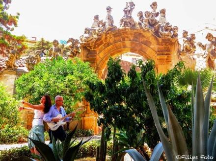 Villa Palagonia music ensemble at Villa Palagonia